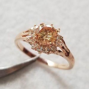 Jewelry - 18k Rose Gold & Simulated Morganite